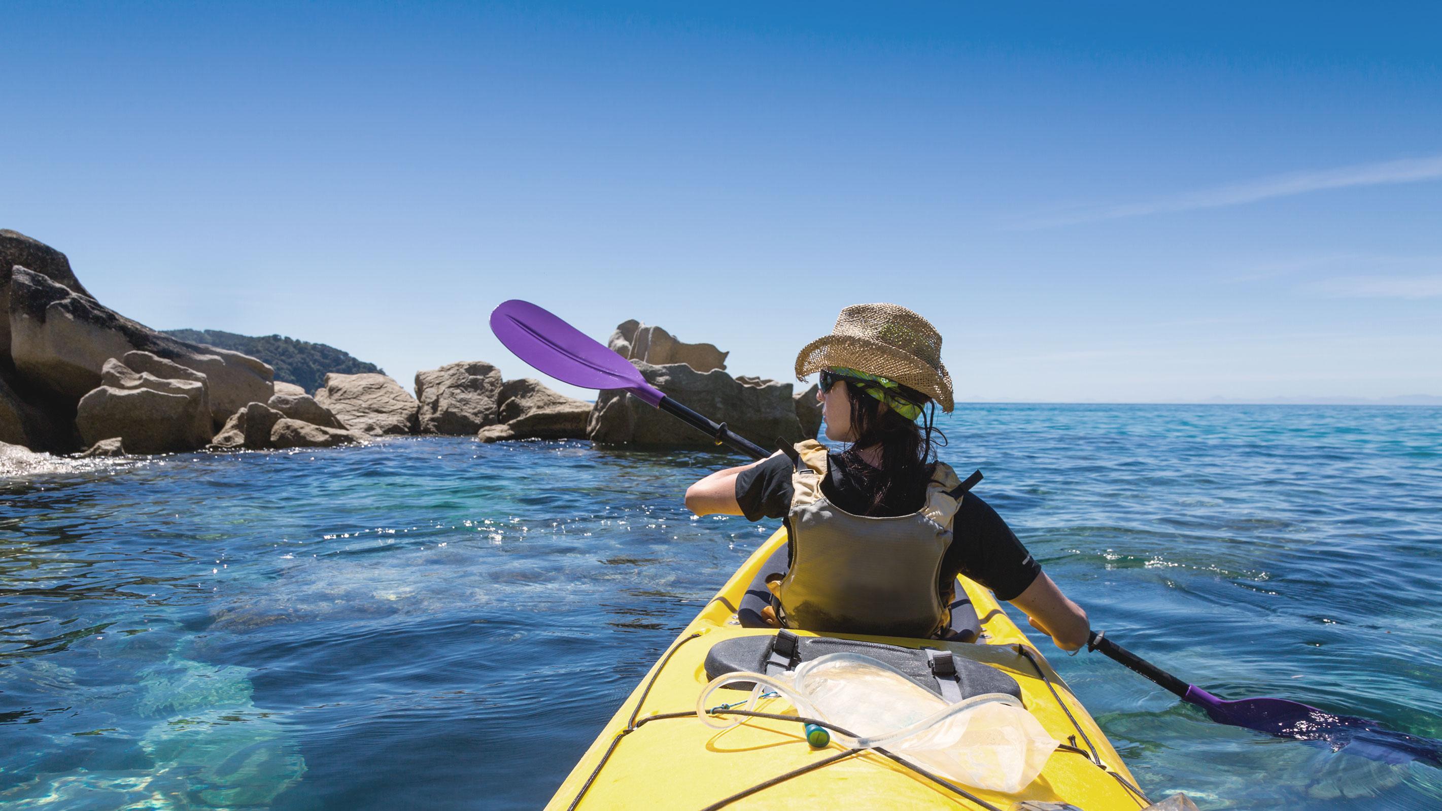 Kayak fahren im Abel Tasman Nationalpark
